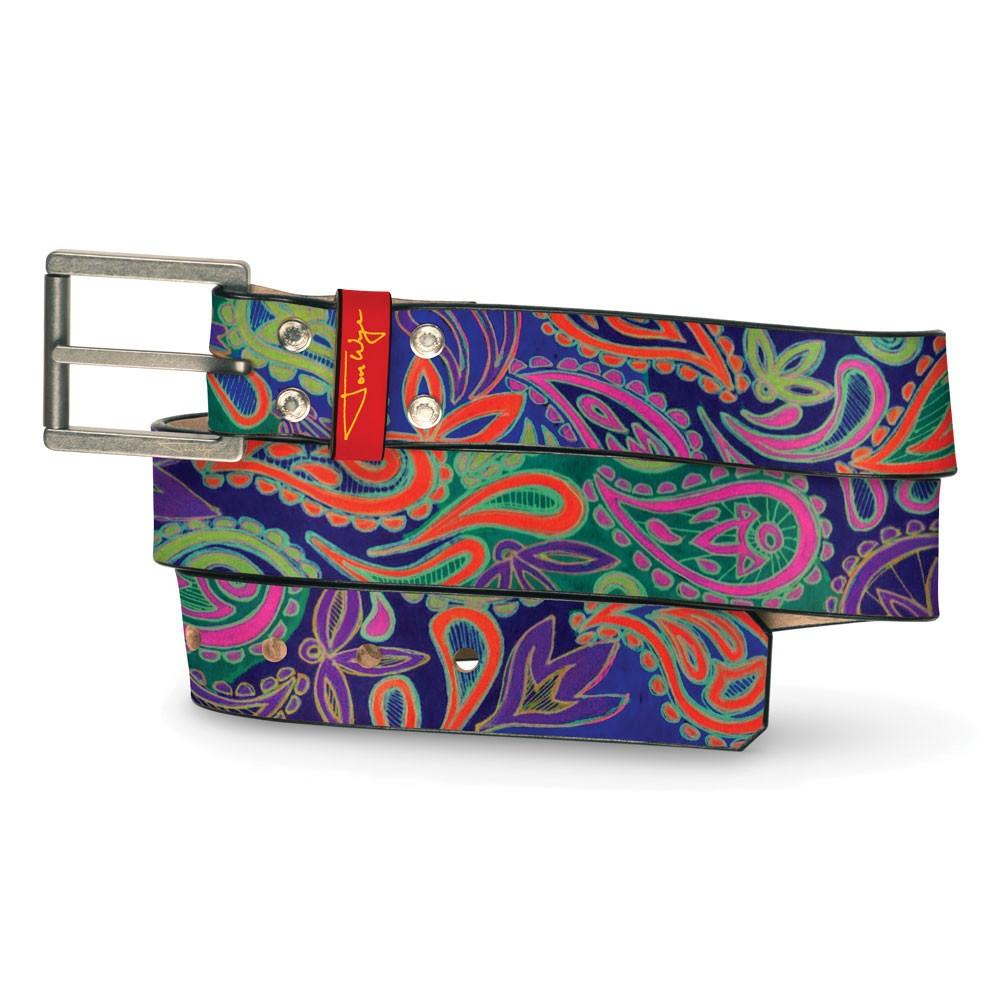 Bizarro Hand Drawn Paisley Belt - Front