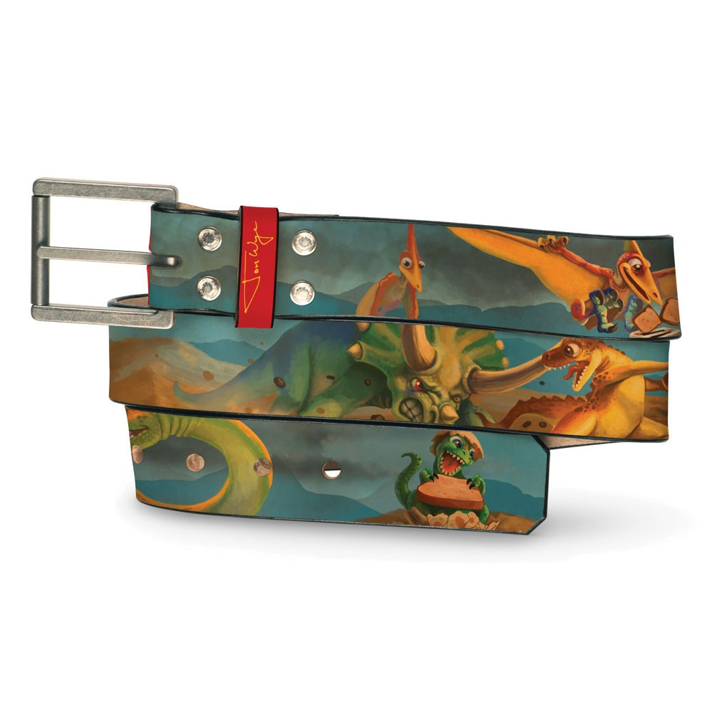 Dinosaurs Making Toast Belt - Front