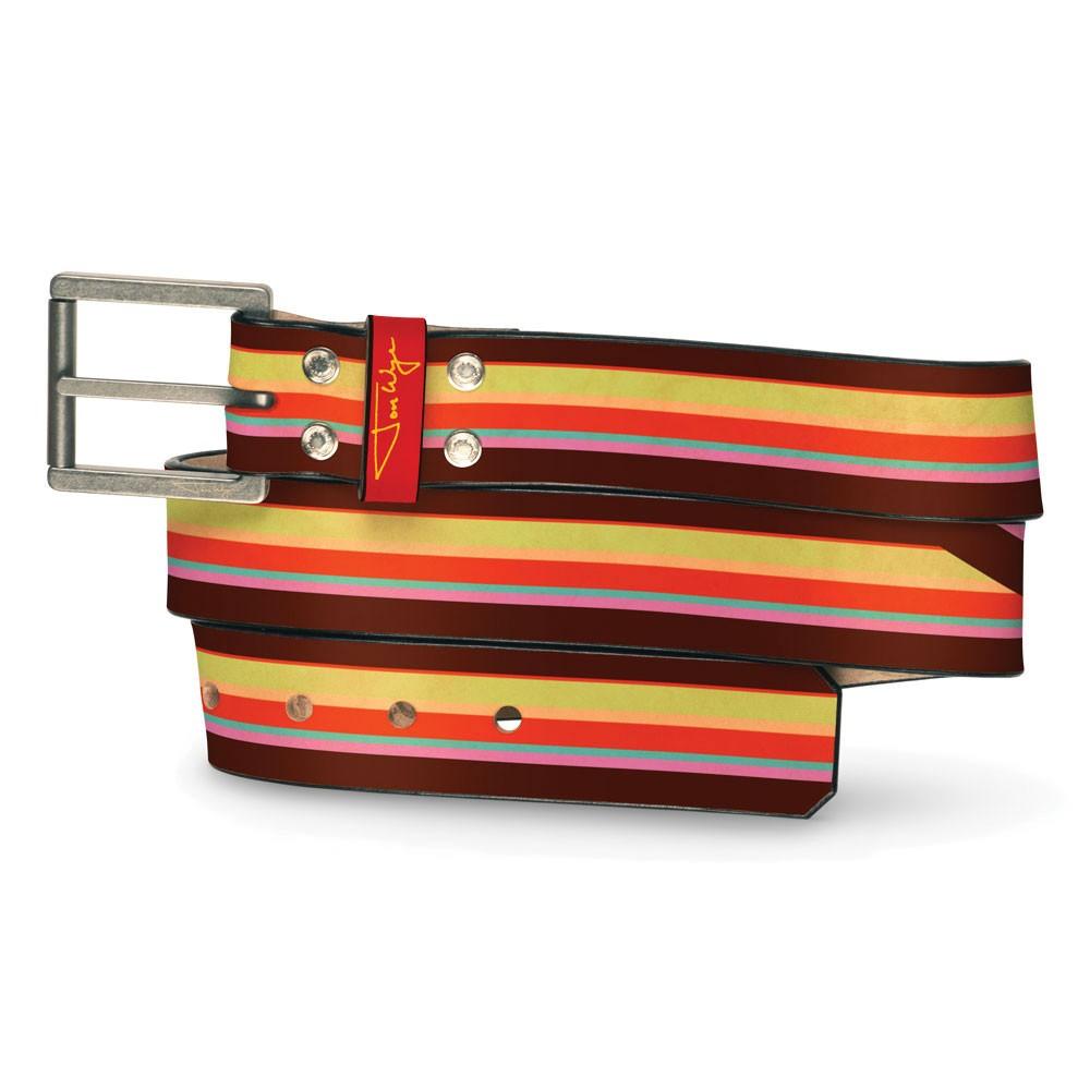 Straight Stripe Belt - Front