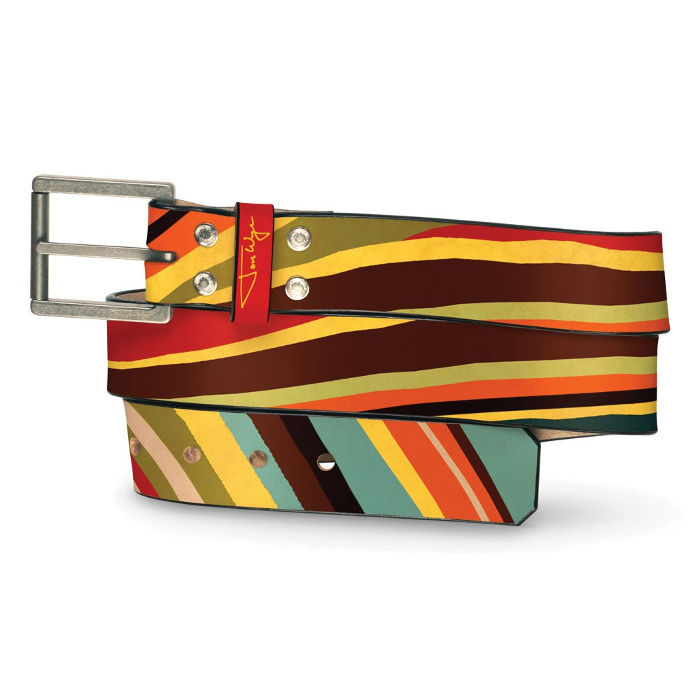Wavy Stripe Belt - Front