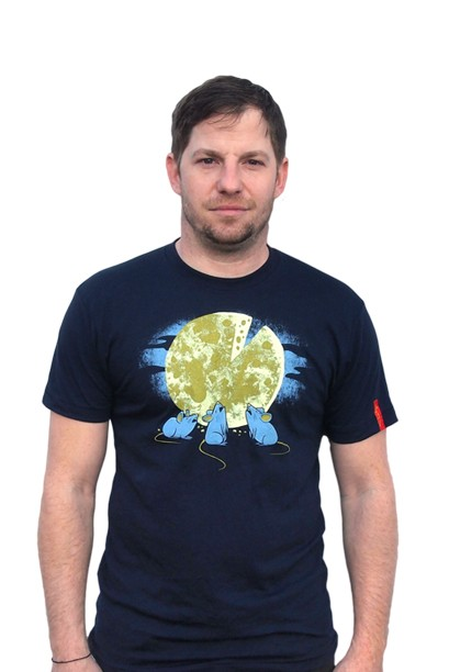 Men's 'Three Mouse Cheese-Moon' T-shirt