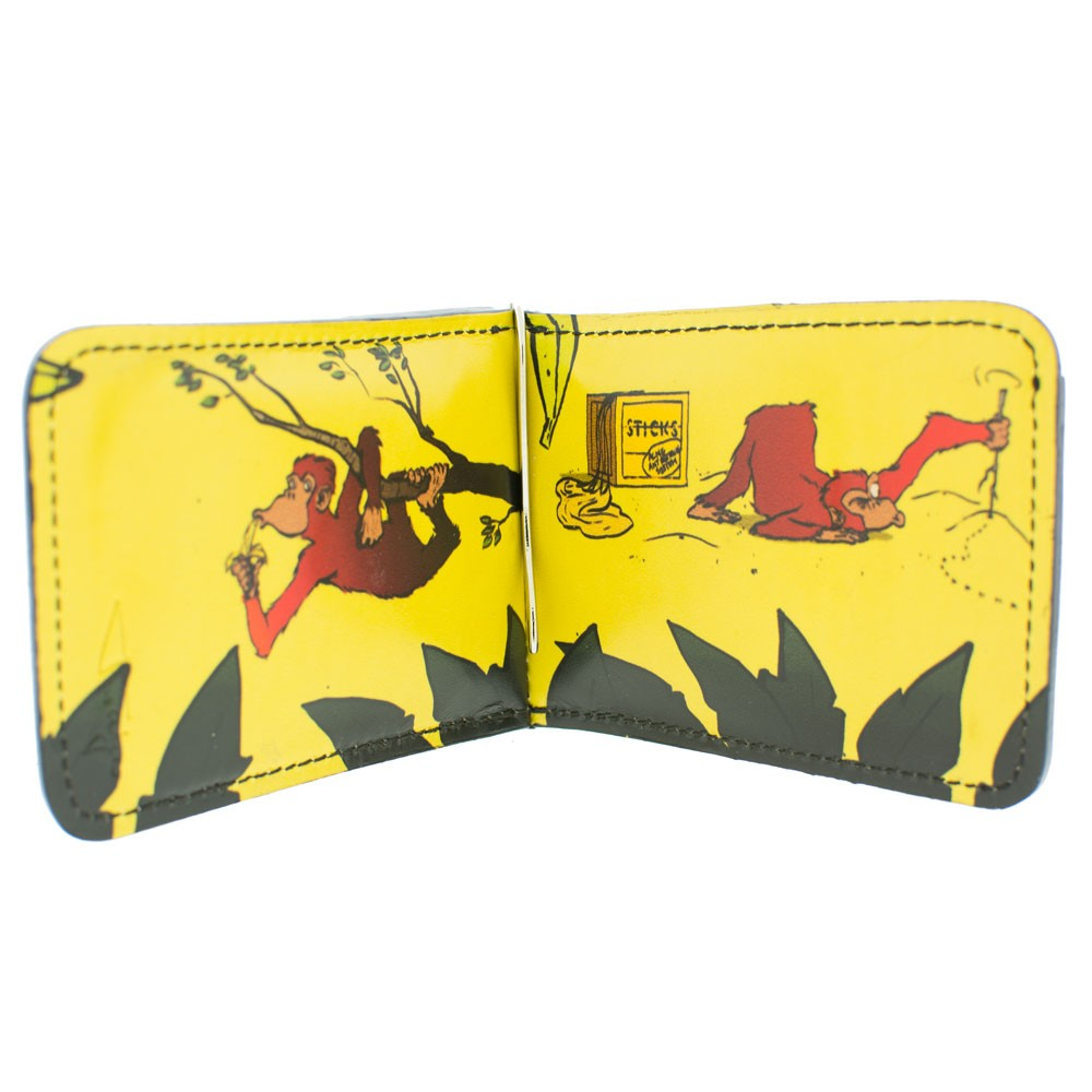 Chimps Gone Bananas Leather Wallet