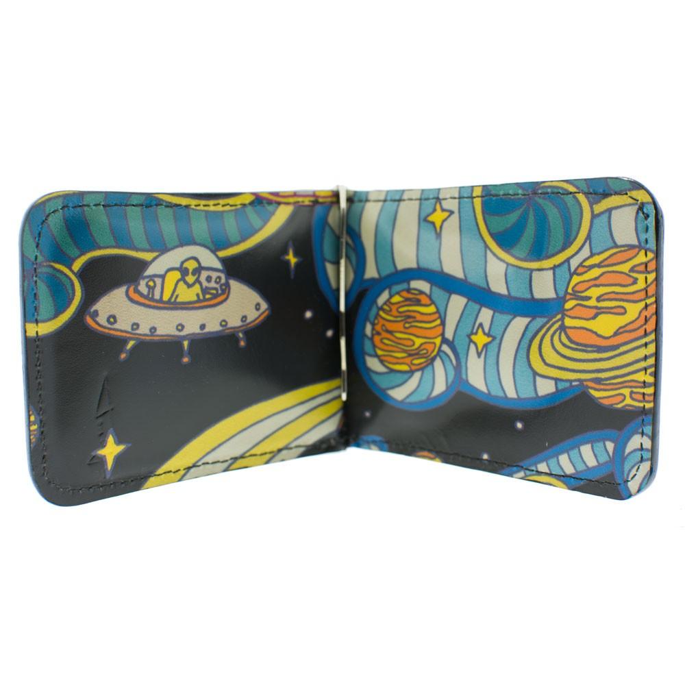 Happy Spacemen Leather Wallet: Inside