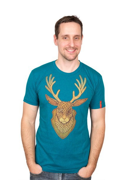 Jackolope T-Shirt: Heather Green