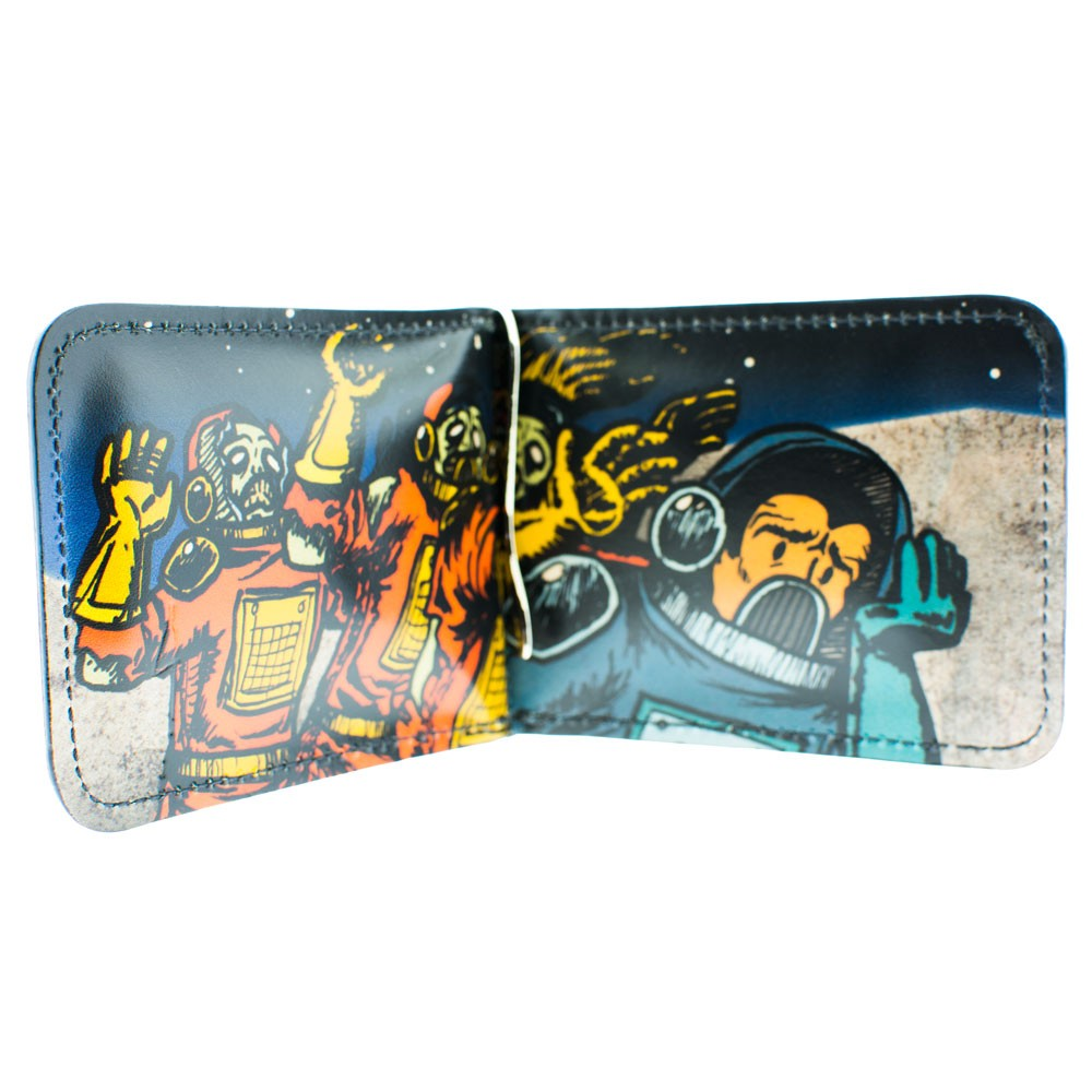 Zombies in Space Leather Wallet: Inside